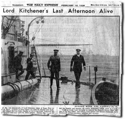 Hours before Kitchener's death
