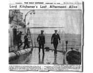One of the last photographs taken of Lord Kitchener.